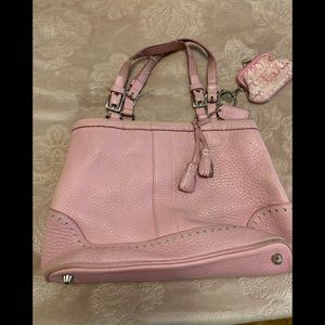 Coach purse pink and the the keychain with bag